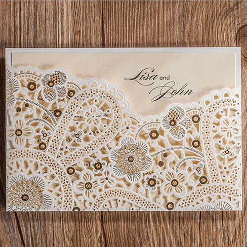 "IB1090.-Invitación "" Lace Flowers """
