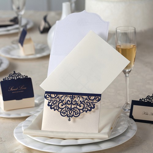 "IB1019.-Invitación para Boda ""Royal Blue"""