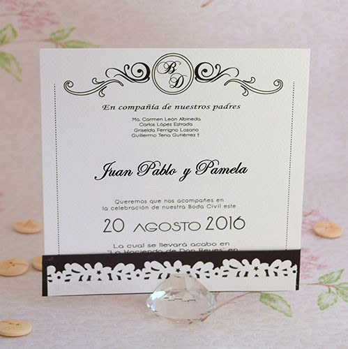 "IB1013.-Invitación de Boda ""Dream Love"""
