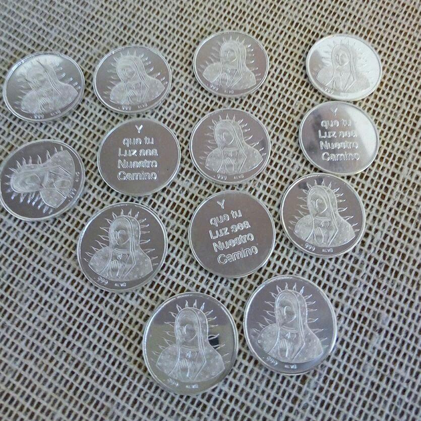 AB18.- 007 Arras de boda Virgen de Guadalupe (Busto) plata .999