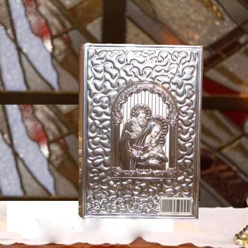 """Biblia de Boda Chica """"La Sagrada Familia"""" plata .925"""