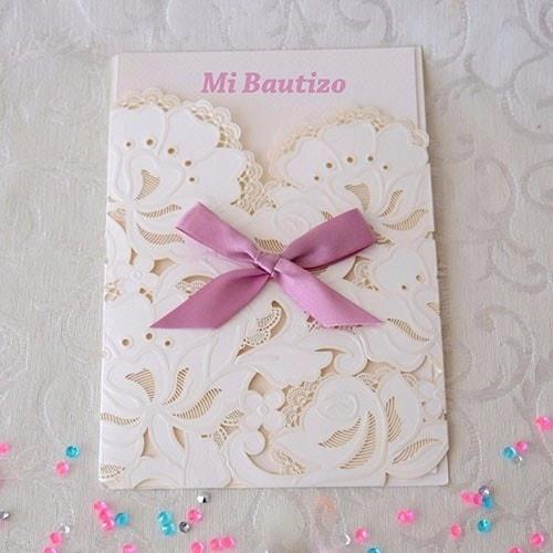"IBB1016.- Paquete de 50 invitaciones ""Fleurs"" Pink"