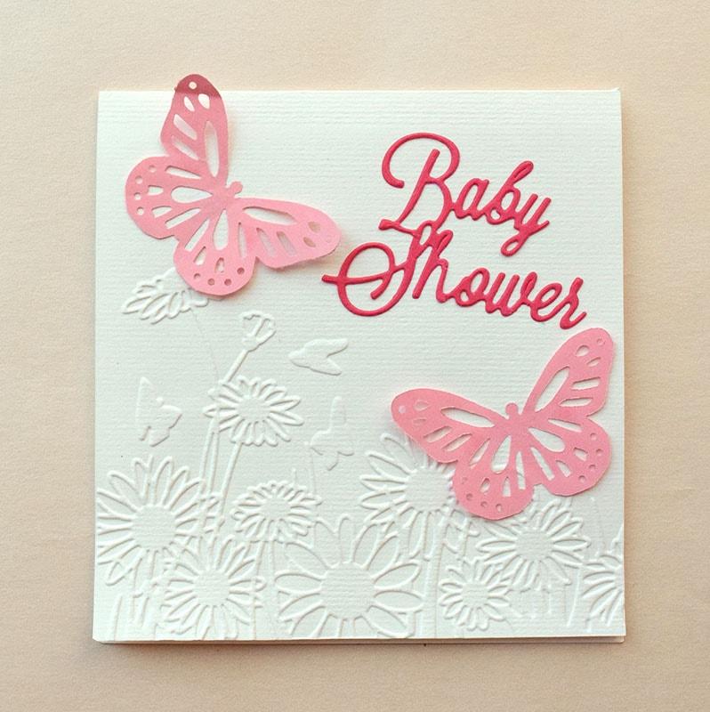 """Invitación para Bautizo o Baby Shower  """"Mariposas"""""""