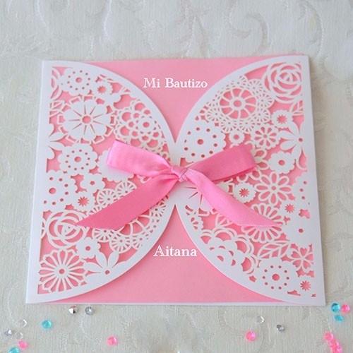 """IBB1015.- Paquete de 50 invitaciones """"Eternally """" pink"""
