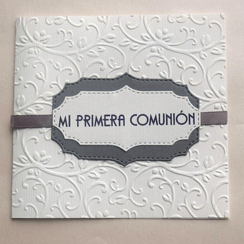 "Invitación para Primera Comunión ""Palmas"""