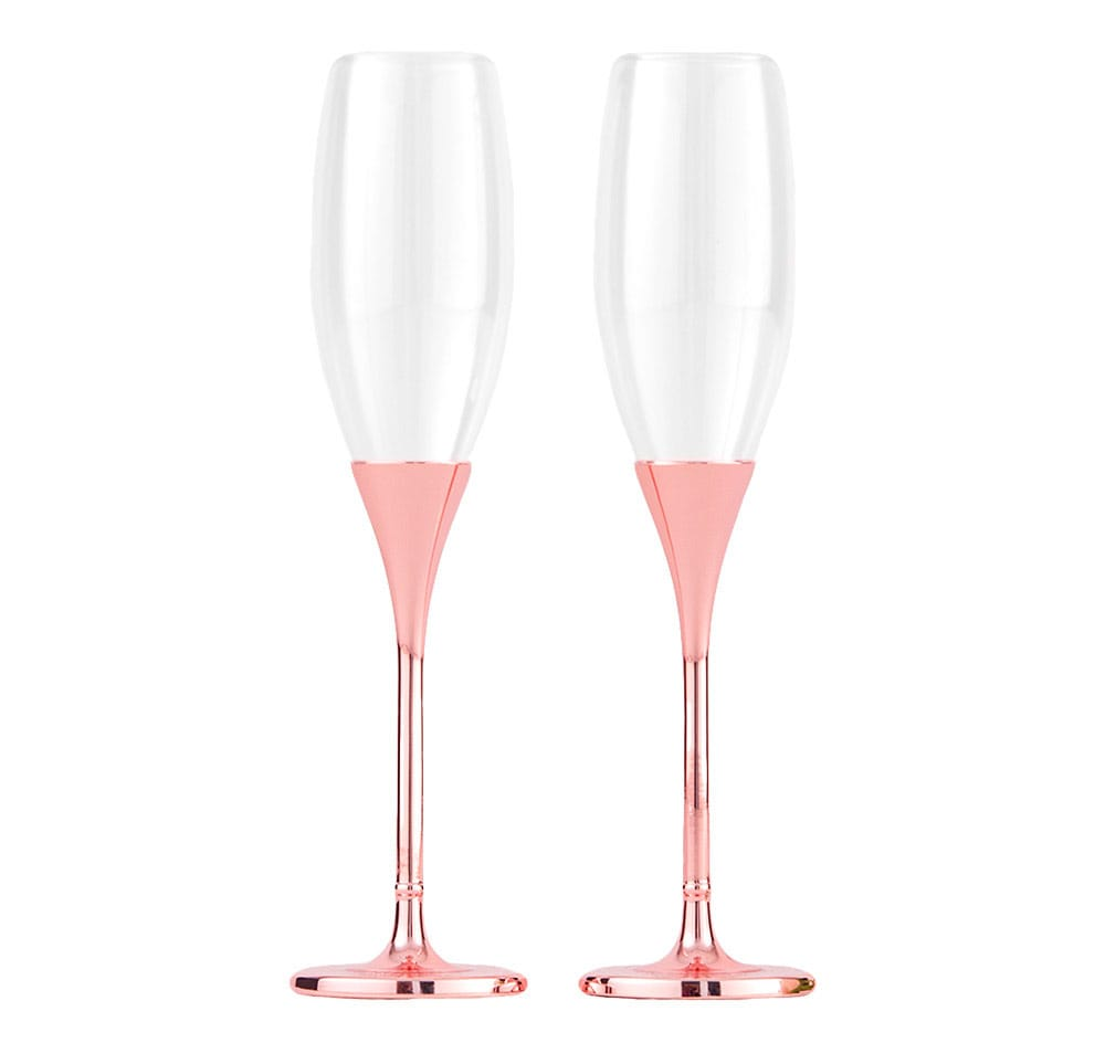 "Copas de boda ""Rose Gold Diamond"""
