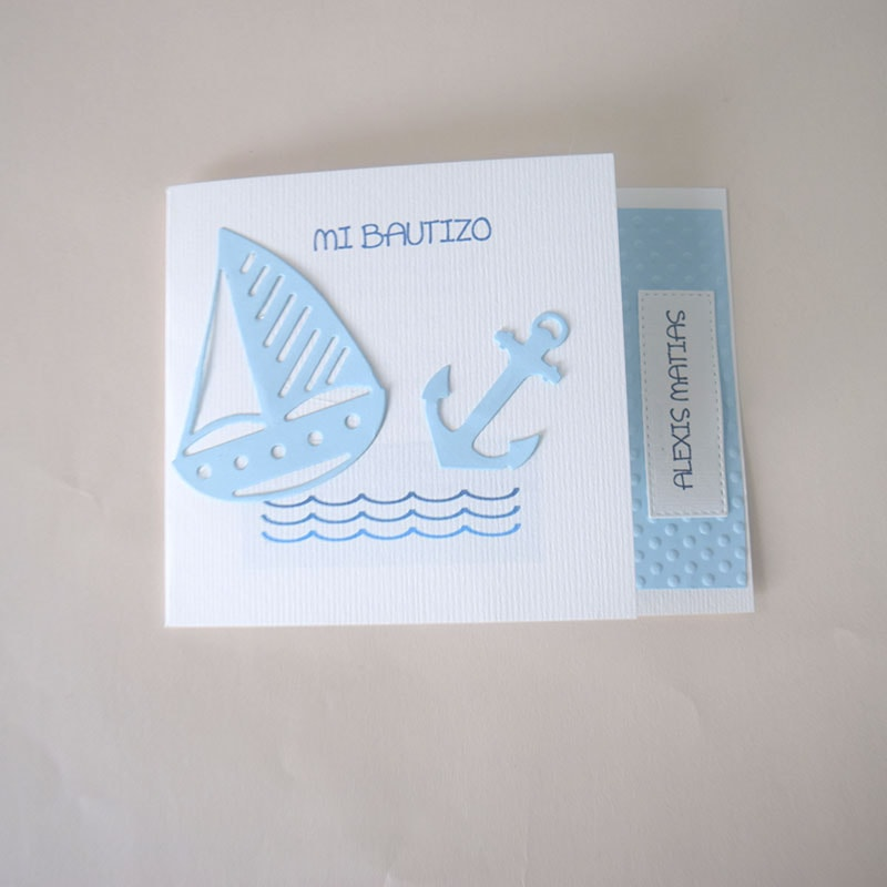 "Invitación para Bautizo niño ""Velerito"""