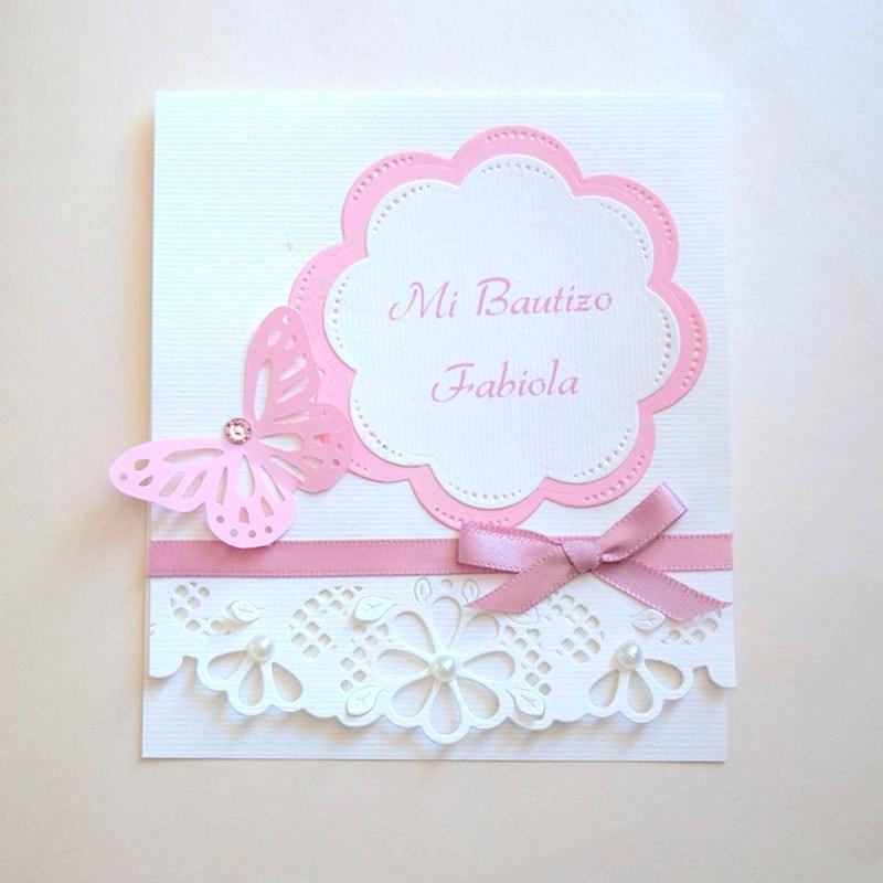 """Invitación para Bautizo """"Jardín floral"""""""